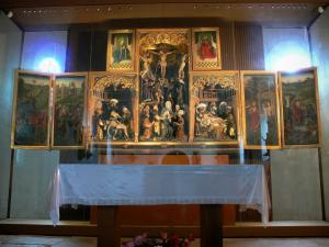 Triptychs of Ternant - Altarpiece of the Passion (Flemish triptych), in the Saint-Roch church