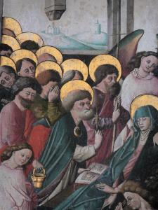 Triptychs of Ternant - Painted shutter (painting of the Funeral of the Virgin) of the altarpiece of the Virgin, in the Saint-Roch church