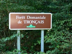 Tronçais forest - Signboard of the Tronçais national forest