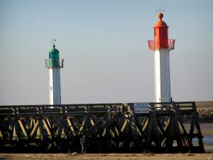 Trouville-sur-Mer - Côte Fleurie (Flower coast): lighthouses of the seaside resort