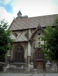 Troyes - Saint-Nizier church and its roof of multicolored glazed tiles