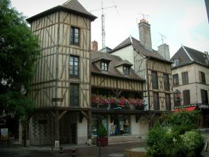 Troyes - Timber-framed building home to the tourist office