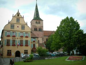 Turckheim - Town hall and church