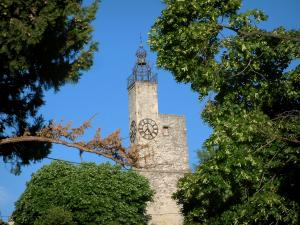 Vaison-la-Romaine - Belfry (tour) of the fortified gate and trees