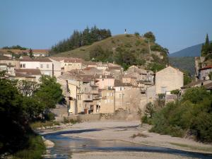 Vaison-la-Romaine - River (Ouvèze), trees and houses of the city