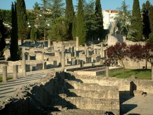 Vaison-la-Romaine - Archeological site: Gallo-Roman remains (ancient ruins) of the Villasse district