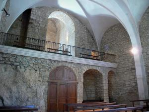 Vals rock church - Inside the Sainte-Marie church