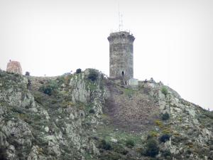 Vermilion coast - Madeloc tower, medieval watchtower overlooking the Albères and the Vermilion coast