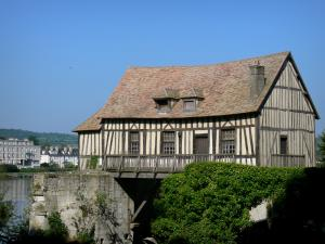 Vernon - Old half-timbered mill on River Seine