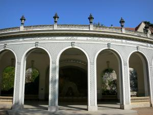 Vichy - Spa town (resort): arcades of the pavilion of the Célestins spring