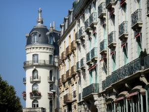 Vichy - Facades of buildings in the spa town