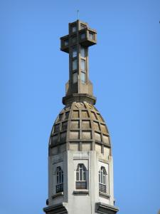 Vichy - Bell tower of the new Saint-Blaise church (Notre-Dame-des-Malades church)