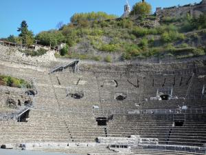 Vienne - Roman theater (ancient theater) and bleachers