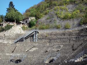 Vienne - Roman theater (ancient theatre) and its bleachers