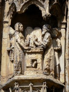 Vienne - Saint-Maurice cathedral: carved details (carvings) of the central portal