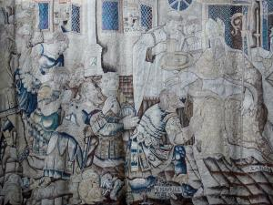 Vienne - Inside the Saint-Maurice cathedral: Flemish tapestry