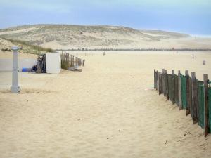Vieux-Boucau Port d'Albret - Landes coast: sandy beach of the resort