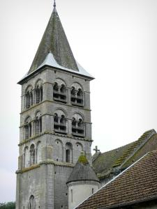 Vignory church - Bell tower of the Saint-Etienne Romanesque church