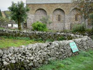 Village of Aubrac - Stone walls and Notre-Dame-des-Pauvres church