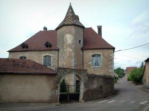 Villages of the Haute-Saône - Residence with a turret (glazed tiles)