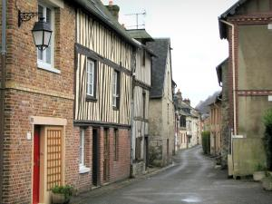 Villequier - Houses of the village, in the Norman Seine River Meanders Regional Nature Park