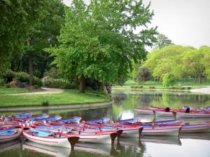 Vincennes wood - Boats of the Daumesnil lake