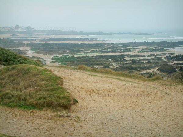 Wild coast (côte sauvage) - Sand, cliffs and the sea (Atlantic Ocean)