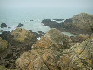 Wild coast (côte sauvage) - Cliffs and the sea (Atlantic Ocean)