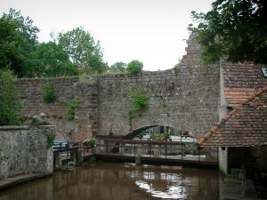 Wissembourg - Lauter river and ramparts of the old town