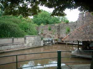 Wissembourg - Lauter river, ramparts and trees