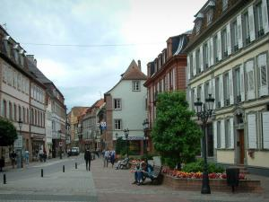 Wissembourg - Street lined with houses
