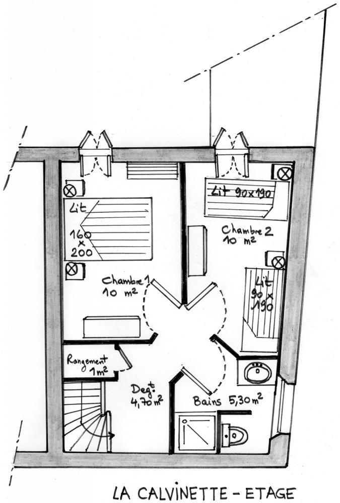 Foto la calvinette affitto vacanze a pernes les fontaines for Floor plans for 160 000