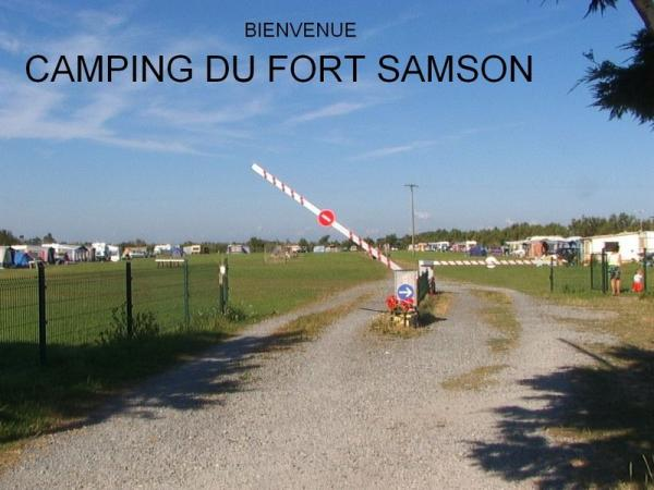Camping du fort samson (aire naturelle) - Camping - Vacances & week-end à Grandcamp-Maisy