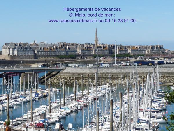 Superbe appartement bord de mer saint malo location de vacances saint malo - Camping le port blanc dinard ...
