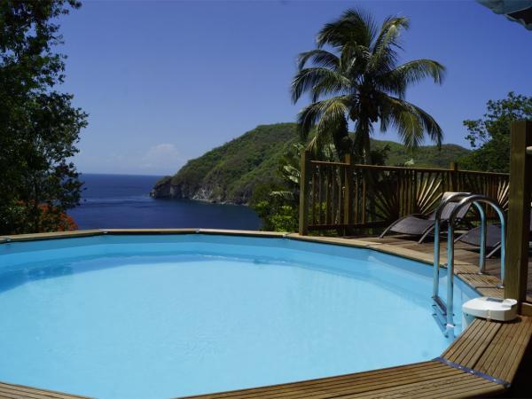 Villa palma deshaies guadeloupe piscine vue location de for Villa deshaies avec piscine