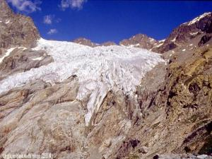 Le Blanc glacier seen from the refuge in 1989 (© Jean Espirat)