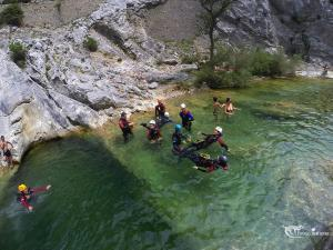 Canyoning in the gorges