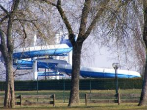 Gray - outdoor pool with water slide 44 meters