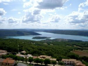 Lake Sainte-Croix from Aiguines, near the Gorges du Verdon