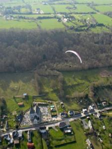 The village of Marais- Vernier saw a paraglider wing